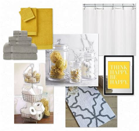 Gray And Yellow Bathroom Accessories Gray And Yellow Bathroom Master Bed Bath