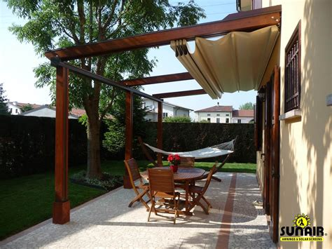 retractable pergola awning best quality design red cherry