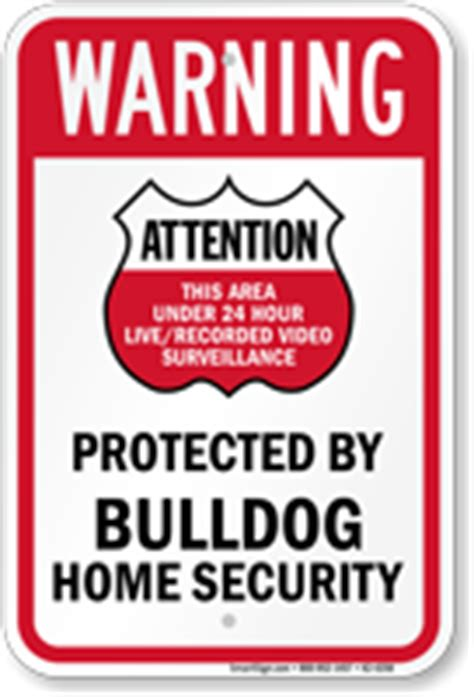 protected by bulldog home security sign sku k2 4258