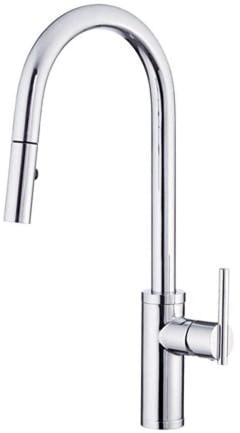 danze® d454058 single handle pull down kitchen faucet with