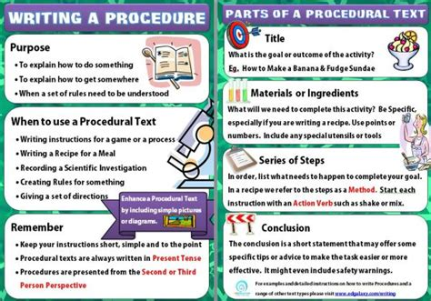 procedure writing templates free classsroom poster writing a procedural text