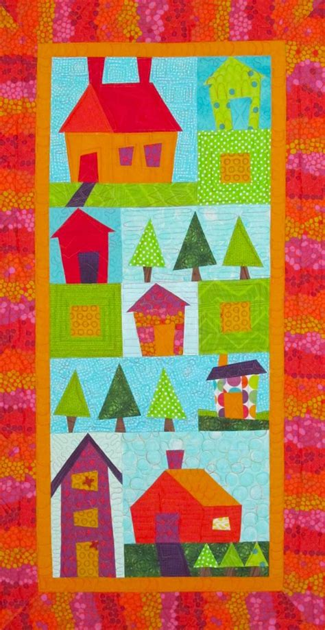 Patchwork Quilt Minneapolis - pretty pieced houses quilt pattern at cities quilting