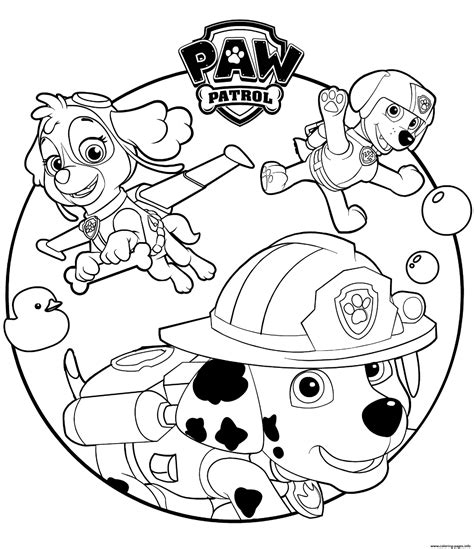 paw patrol blank coloring pages to print skye marshall and rocky paw patrol coloring pages printable