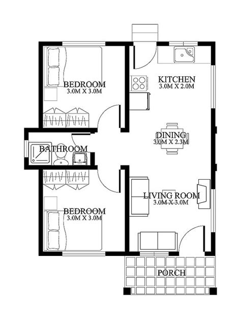 floor plan of small house small house designs shd 20120001 eplans