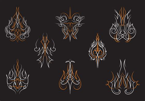 hotrod pinstripes ornament vectors download free vector