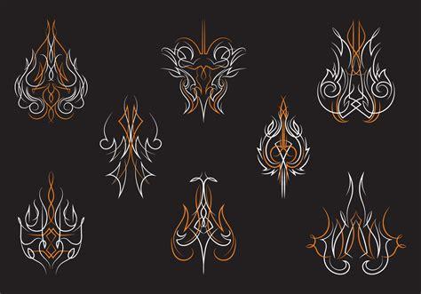 hotrod pinstripes ornament vectors download free vector