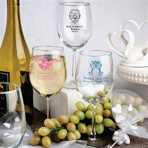 wedding favors wine glasses 12 oz custom printed white wine glass wedding favors