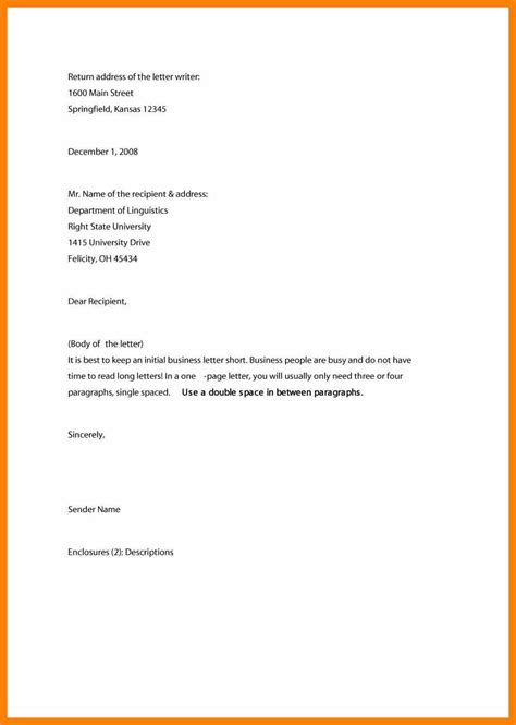 Proper Business Letter Address Format correct business letter format sle pictures to pin on