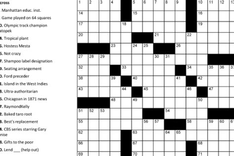 printable crossword puzzles easy to medium printable crosswords puzzle baron