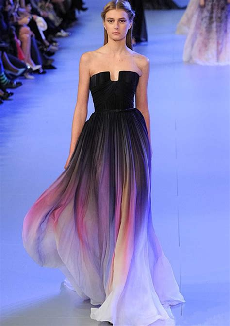 colorful prom dresses new gradient colorful dresses ombre chiffon prom