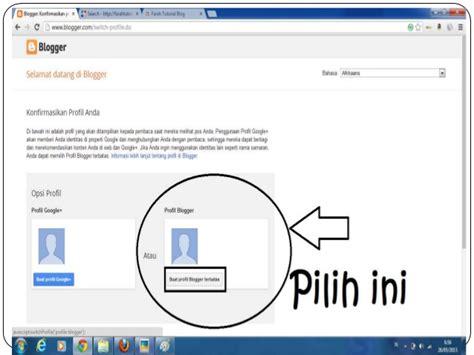 tutorial net blogspot tutorial cara membuat blog dengan blogspot