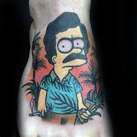 pablo escobar tattoo 50 bart designs for the simpsons ink