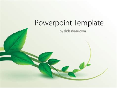 google slides themes nature vine leaf powerpoint template slidesbase