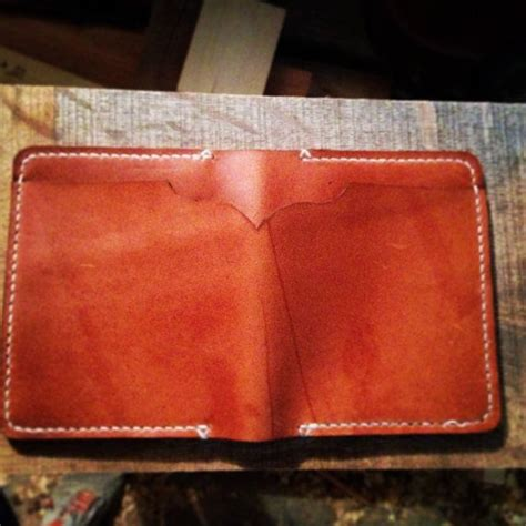 Handmade Mens Leather Wallet - handmade mens horween leather wallet