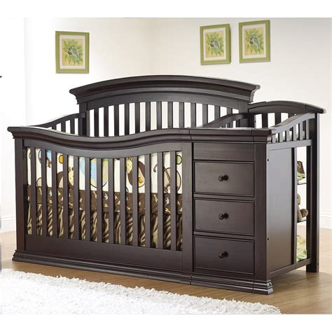 Crib With Changing Table Attached Convertible Crib Million Dollar Baby Classic Wakefield Collection 4 In 1 Convertible Crib Set