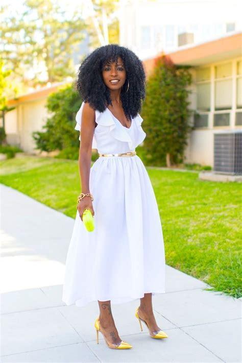 white spring dress  yellow accessories white tea