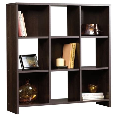 sauder beginnings 9 cubby storage organizer cinnamon