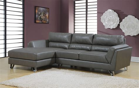 charcoal gray match sofa sectional from monarch 8210gy