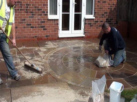 constructing a new marshall s fairstone riven patio ljn