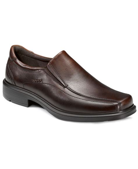 ecco loafers mens ecco s helsinki comfort loafers in brown for