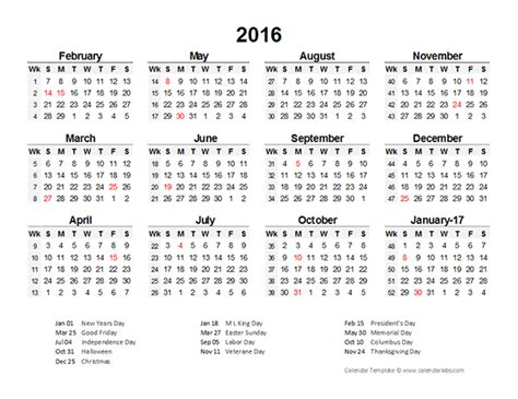 2016 Accounting Period Calendar 4 4 5 Free Printable Templates Accounting Calendar Template