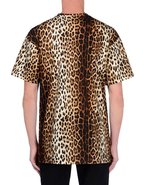 Leopard Print T Shirt Mens by Moschino Leopard Print T Shirt In Animal For Brown Lyst