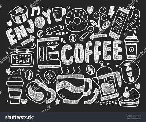 doodle club drink shop do doodle coffee coffee doodle vector pack free vector