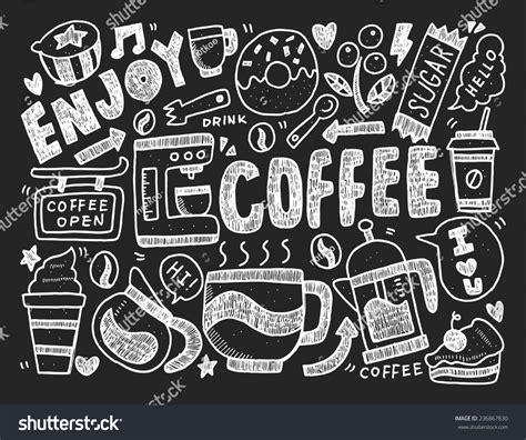 doodle coffee doodle coffee stock vector 236867830