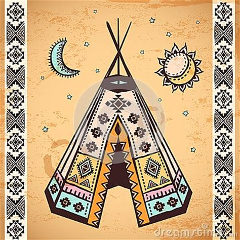 tribal native american set of symbols royalty free stock