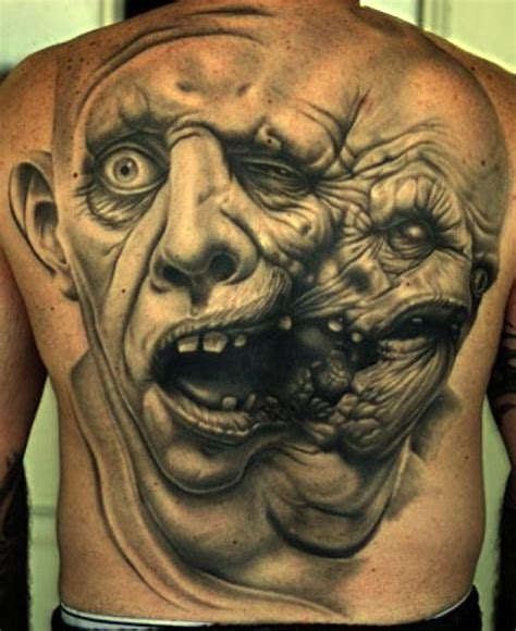 zombie tattoo ink 3d tattoos and designs page 104