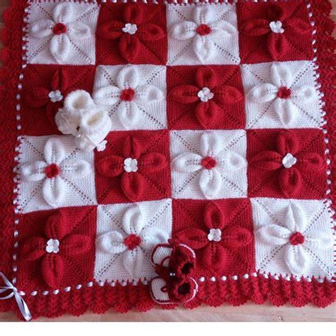 knitted flower blanket flower baby blanket free knit pattern my hobby