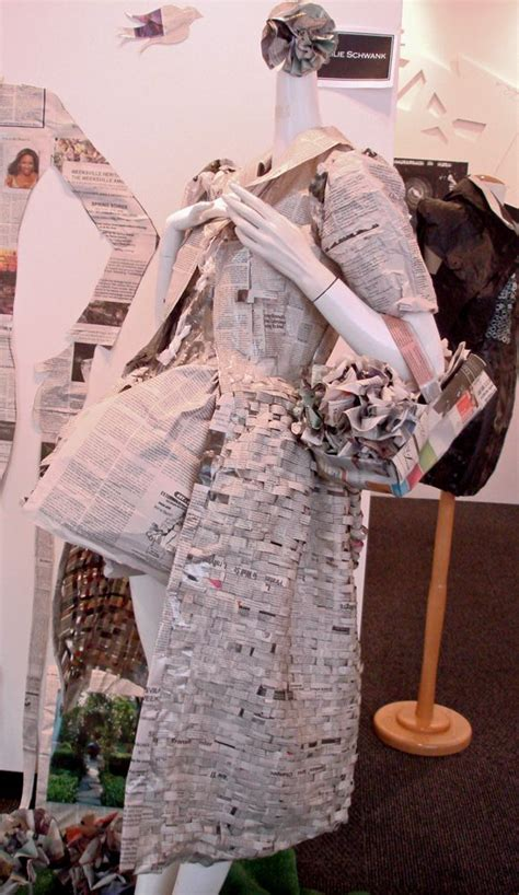 An Exhibit Of Camo Chic by The Dress Made Of Newspapers From The Exhibit Quot Trash Chic