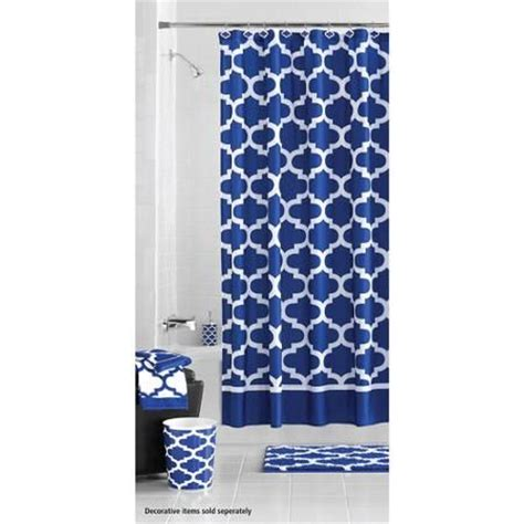 Blue Bathroom Shower Curtains 17 Best Ideas About Royal Blue Bathrooms On Sunflower Centerpieces Diy Blue