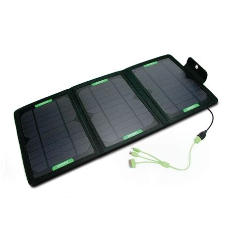 The Wave 12 Watt Tri Fold Solar Charging Station Kit Dg W 1 The Home Depot