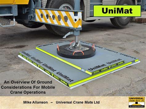 Load Spreading Mats universal crane mats ltd the uk load spread specialists