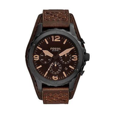 Jam Tangan Fossil Jr1511 Leather jual fossil jr1511 nate chronograph mate leather jam