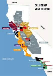 wineries in southern california map wine regions of california regiones vino