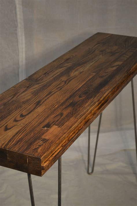 Oak Entry Table Oak Entry Table Reclaimed Boxcar Charred Oak By Boxcar Notonthehighstreet