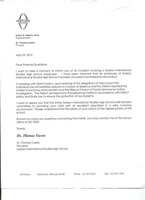 Apology Letter To Class For Absence How To Write A Letter To Class For Absent Parent Orientation Totalbusiness Letter On