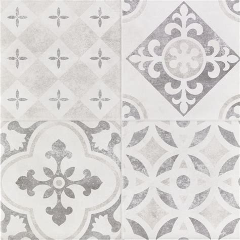 Patchwork Wall Tiles - atlas grey patchwork ceramic wall floor tile 9 pack at