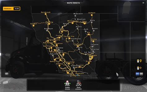 california map ets2 new cities in nevada and california american truck