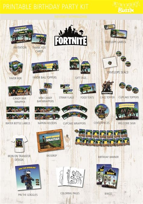 fortnite birthday party ideas  themed supplies