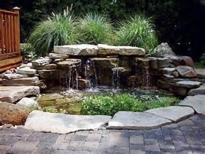 waterfall pond patio home