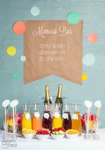 setting up a mimosa bar smarty had a party blog