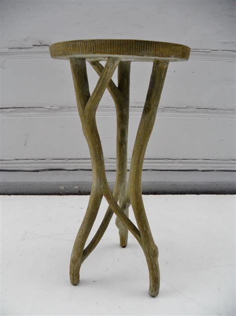 irving faux bois concrete side table mecox gardens