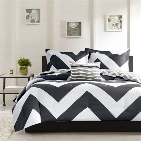 Www Home Decorating Co by Shop Mizone Libra Chevron Black Grey Comforters The