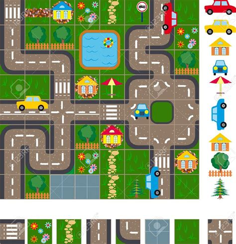 road layout en français map clipart small clipground