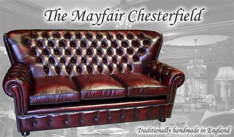 High Back Chesterfield Sofa by The Mayfair Chesterfield Sofa Collection A1 Furniture