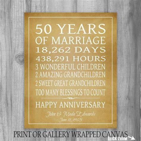 Golden Anniversary Gift Grandparents 50th Anniversary Gift