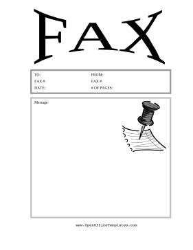 Fax Cover Sheet Template Open Office by Thumbtack Fax Cover Sheet Openoffice Template